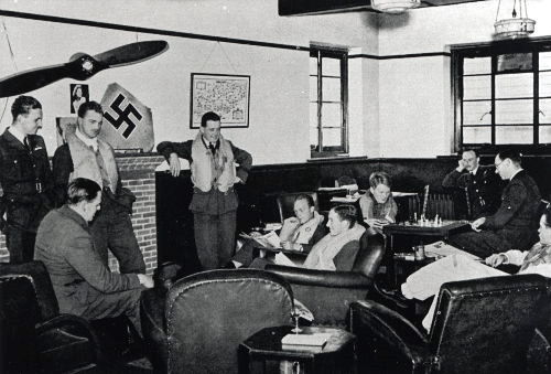 Members of 66 Squadron in the clubhouse at Gravesend (copyright Robin Brooks)