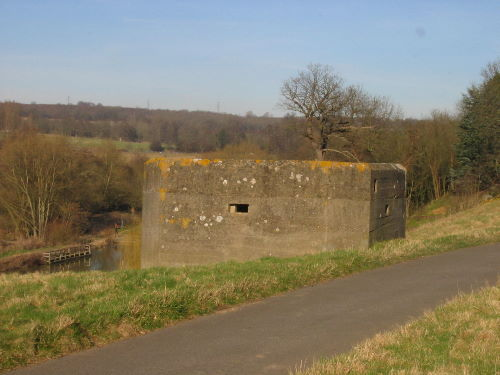 Vickers machine gun post south of Teston