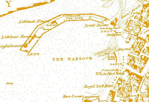 Margate as sown on the Ordnance Survey 1st edition map (1862-1875)